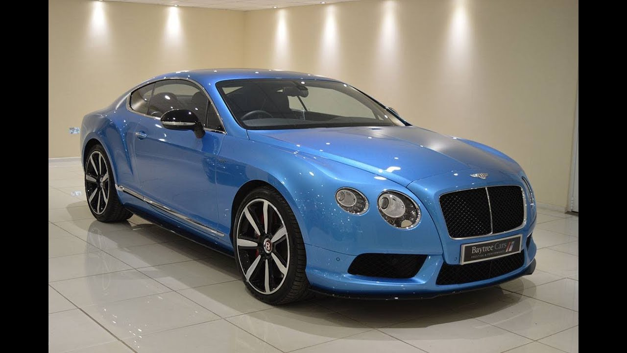 Bentley Speed 6 >> Kingfisher Blue Bentley Continental V8 S GT at Baytree Cars - Sports Exhaust - YouTube