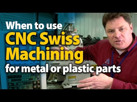 When do you use CNC Swiss Machining services for metal or plastic parts? ASH INDUSTRIES
