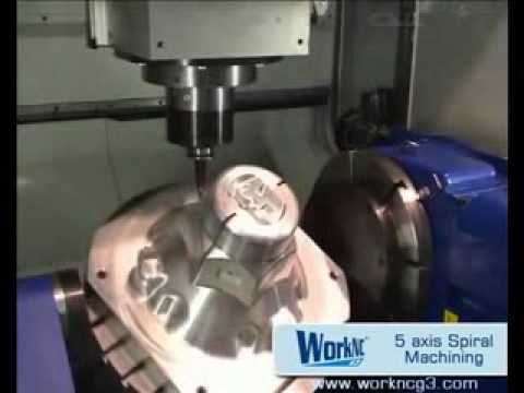 CNC CAD/CAM 5 axis spiral machining