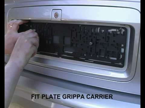 Plate Grippa™ Number Plate Carrier - YouTube