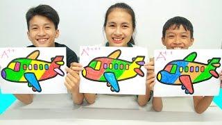 Rainbow Airplane Warna Warni Belajar Menggambar dan Mewarnai untuk Anak