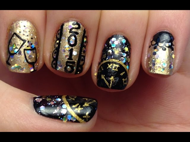 Nail Art Design Ideas For New Year S Eve Diy Projects