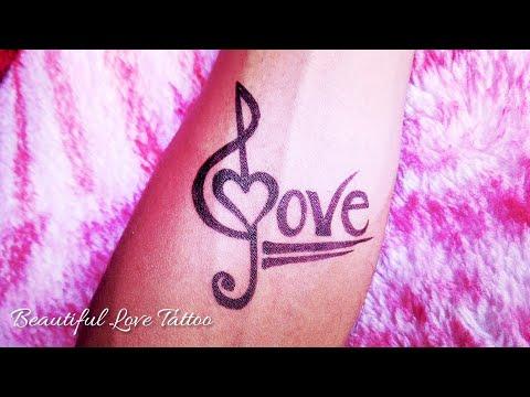 how-to-make-simple-love-tattoo-||-love-tattoo-||-tattoo-and-art-by-kk