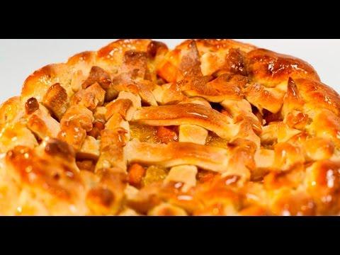 Пирог с тыквой из дрожжевого теста
