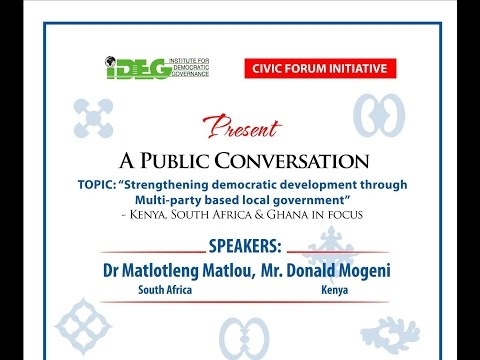 LIVE STREAM of IDEG-CFI Public Conversation
