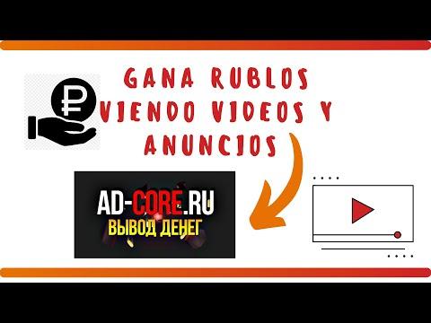 AD-CORE.RU�� GANA RUBLOS VIENDO VÍDEOS EN YOUTUBE��