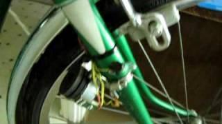 Bike light generator from stepper motor