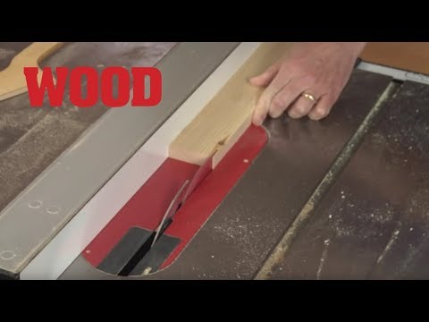 cutting thin strips on your tablesaw wood magazine youtube. Black Bedroom Furniture Sets. Home Design Ideas