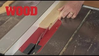 Cutting Thin Strips on Your Tablesaw - WOOD magazine