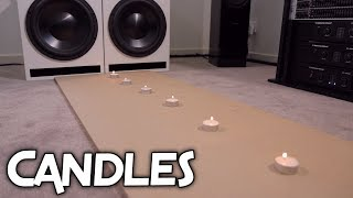 SUBWOOFERS BLOWING OUT CANDLES!!