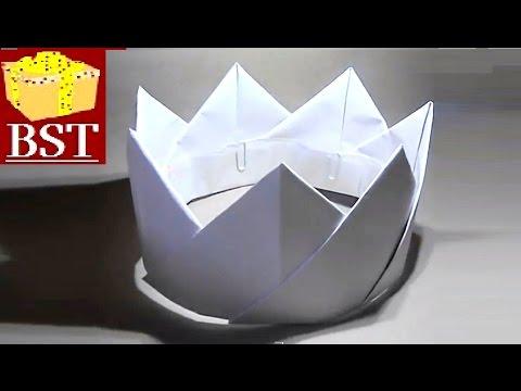 DIY - Как сделать корону короля своими руками из бумаги А4 и скрепок?