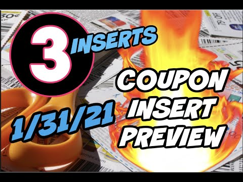 1/31/21 COUPON INSERT PREVIEW | 3 INSERTS & 🔥 COUPONS!