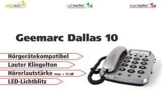 Produktvideo zu Großtasten-Telefon Geemarc Dallas 10
