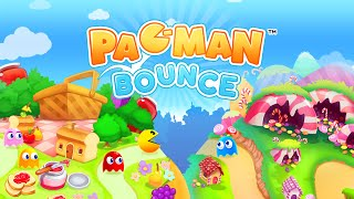 Pac-Man Bounce - AppStore / Google Play - BOUNCE PAC-MAN in a brain-busting puzzle adventure!