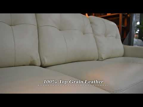 Ashley Okean Leather Sofa, Leather Recliner, and Leather Love Seat at Big Sandy Superstore