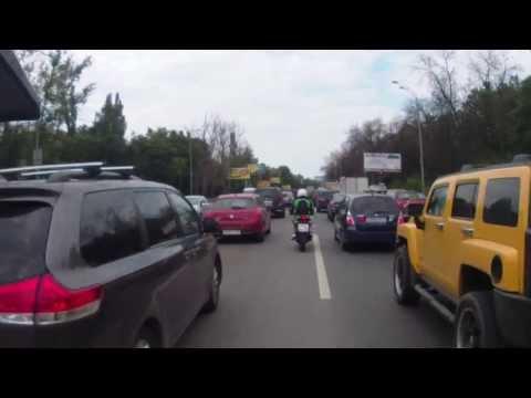 KTM ride trafic jam
