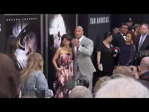San Andreas Premiere Red Carpet - Dwayne Johnson, Alexandra Daddario, Carla Gugino