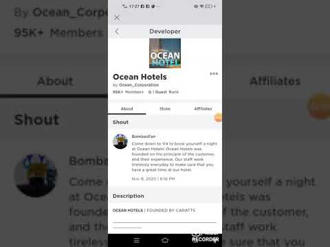 how to work Ocean Hotels in roblox