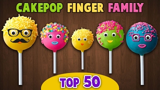 Cake Pop Finger Family Collection | Top 50 Finger Family Songs
