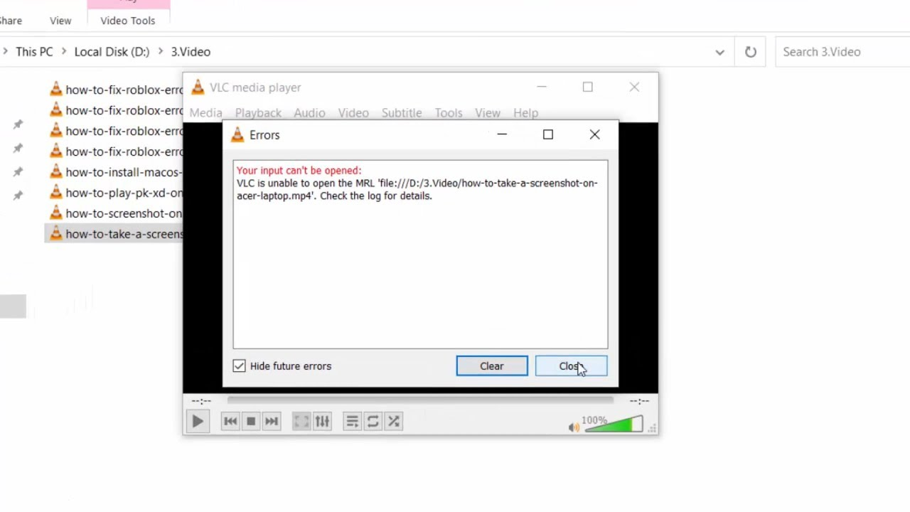 Download (RESOLVED) Your input can't be opened: VLC is unable to open the MRL