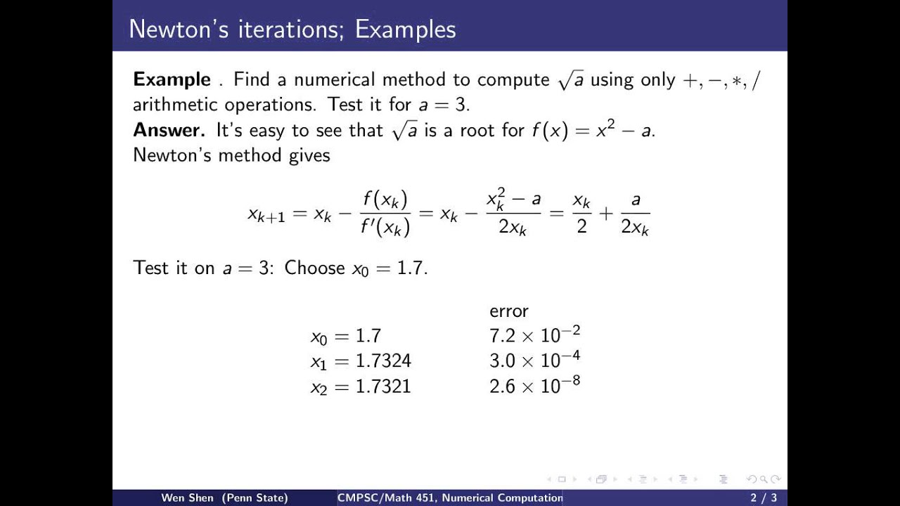 newtons method a computer project 1 answer to how do i use newtons method to find the inflection points of(x^3+3x^2-4)/(e^x) - 243601  newtons method to find inflection pts 1 answer below » how do i use newtons method to find the inflection points of(x^3+3x^2-4)/(e^x)  computer engineering assignment help.