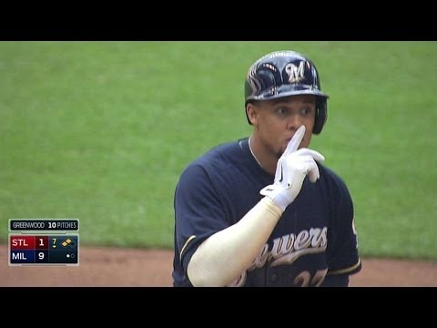 STL@MIL: Gomez's RBI double adds to Brewers' big lead