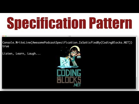 Specification Pattern for Object Oriented Programming and Domain Driven Design