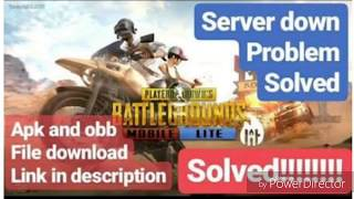 PUBG lite download and server problem fix.