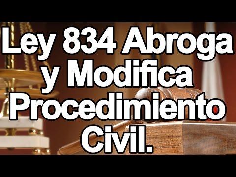 Ley 834 que abroga y modifica procedimiento civil