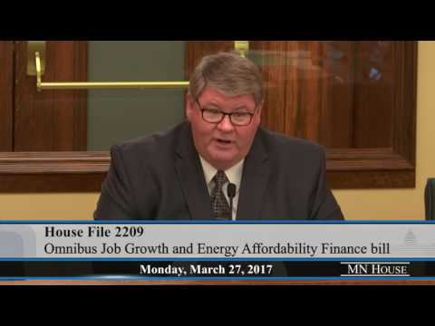 House Job Growth and Energy Affordability Policy and Finance Committee  3/27/17