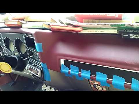 Prepping The Coverlay Dash Cover And Installing On My C10 Truck Part 3