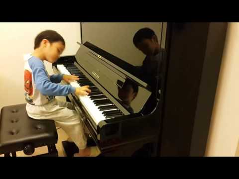 Fantasie Impromptu in Csharp Minor Op66 of Chopin,  Jonah Ho age 5