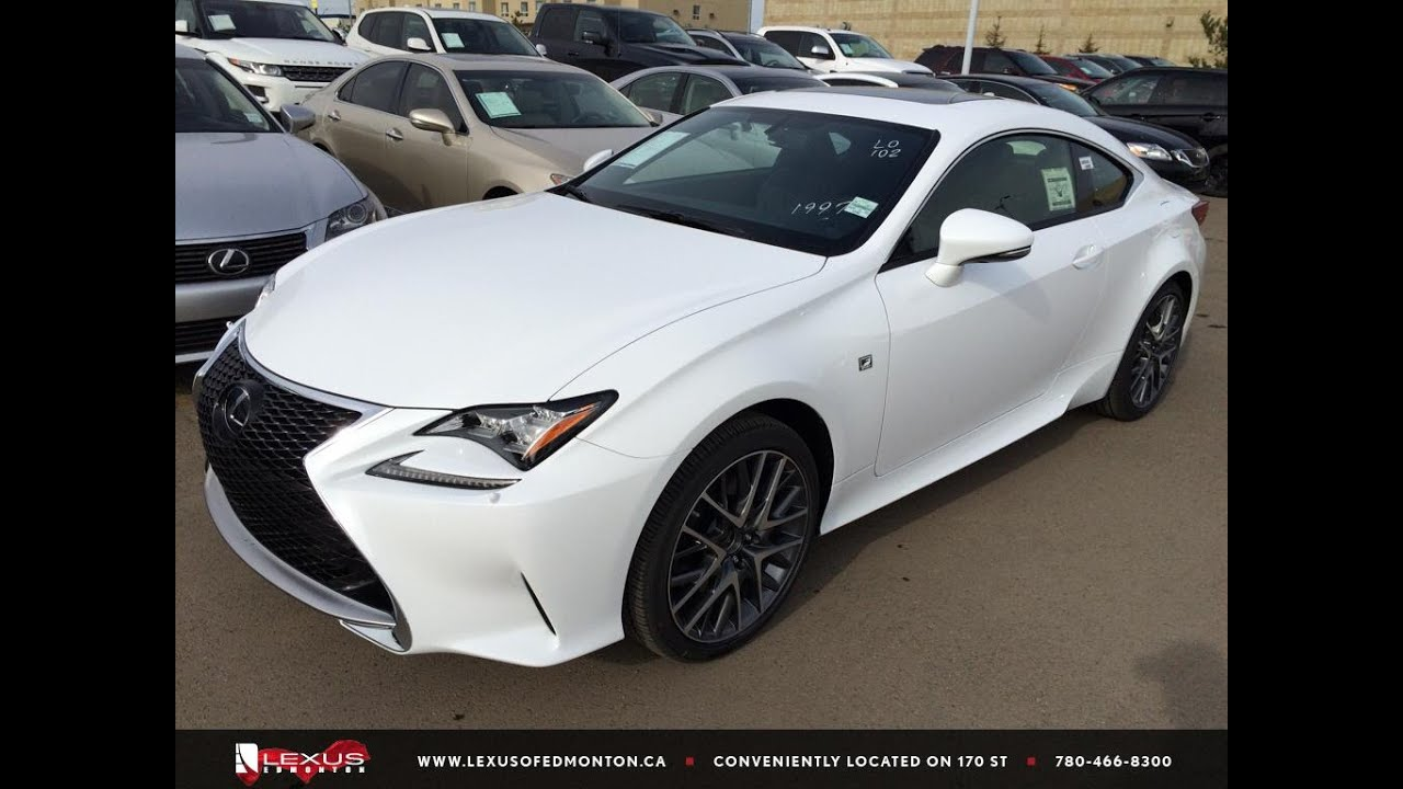 new ultra white on black 2015 lexus rc 350 awd f sport series 1 review edmonton ab youtube. Black Bedroom Furniture Sets. Home Design Ideas