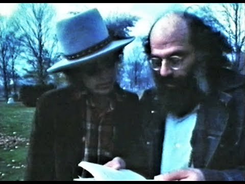 Bob Dylan & Allen Ginsberg Visiting Jack Kerouac's Grave (Lowell, MA., 1975)