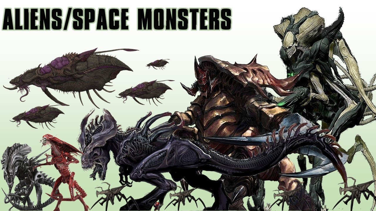 20 Biggest Aliens and Space Monsters - YouTube