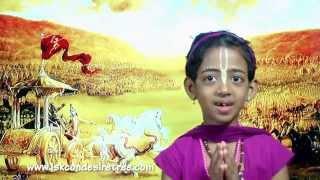 108 important Bhagavat Gita shlokas recitation by small kid Manaswini