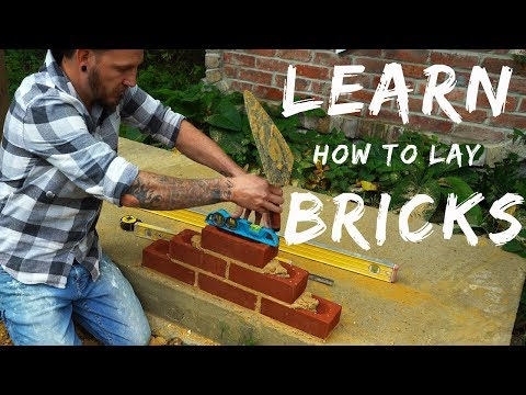BRICKLAYING FOR BEGINNERS [E.P.4 LAYING YOUR FIRST BRICKS]
