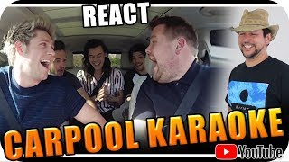 ONE DIRECTION & JAMES CORDEN KARAOKE - Marcio Guerra Reagindo React Reação