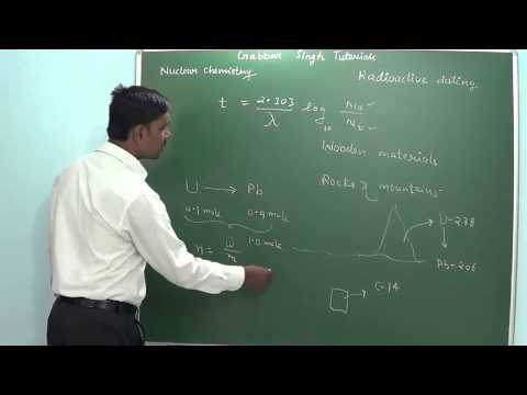 9.6 Radioactive dating (Nuclear chemistry) (Chemistry - Class 11 & Class 12)
