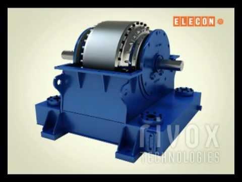 Elecon Scoop Coupling - 3D Mechanical - Assembling - Dismantling Animation By Rivoxtech.com