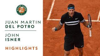 Juan Martin Del Potro vs John Isner - Round 4 Highlights I Roland-Garros 2018