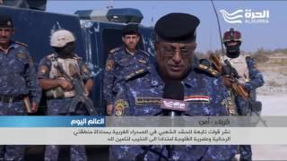 نشر قوات تابعة للحشد الشعبي في الصحراء الغربية لتأمين زيارة كربلاء