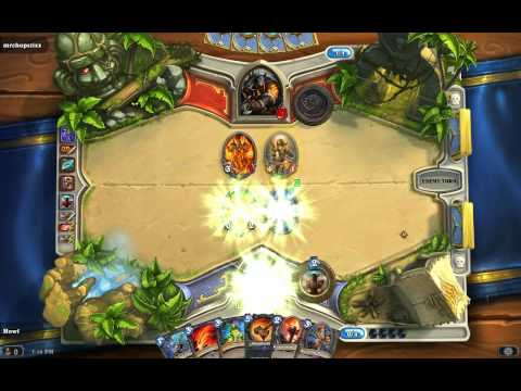 Hearthstone beta: playing arena with BF, 1st game!