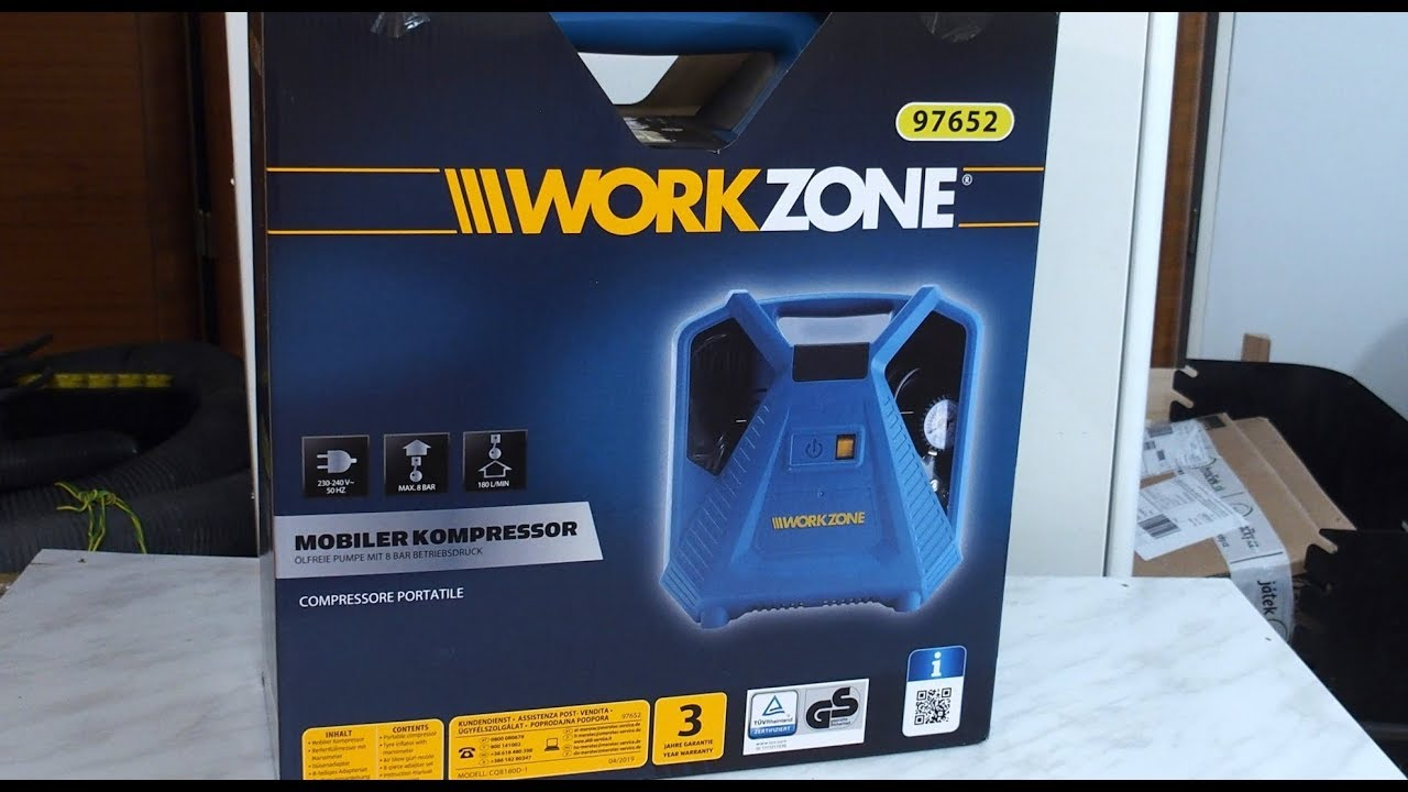 Favorit Unboxing Aldi Workzone mobile compressor - YouTube FY63