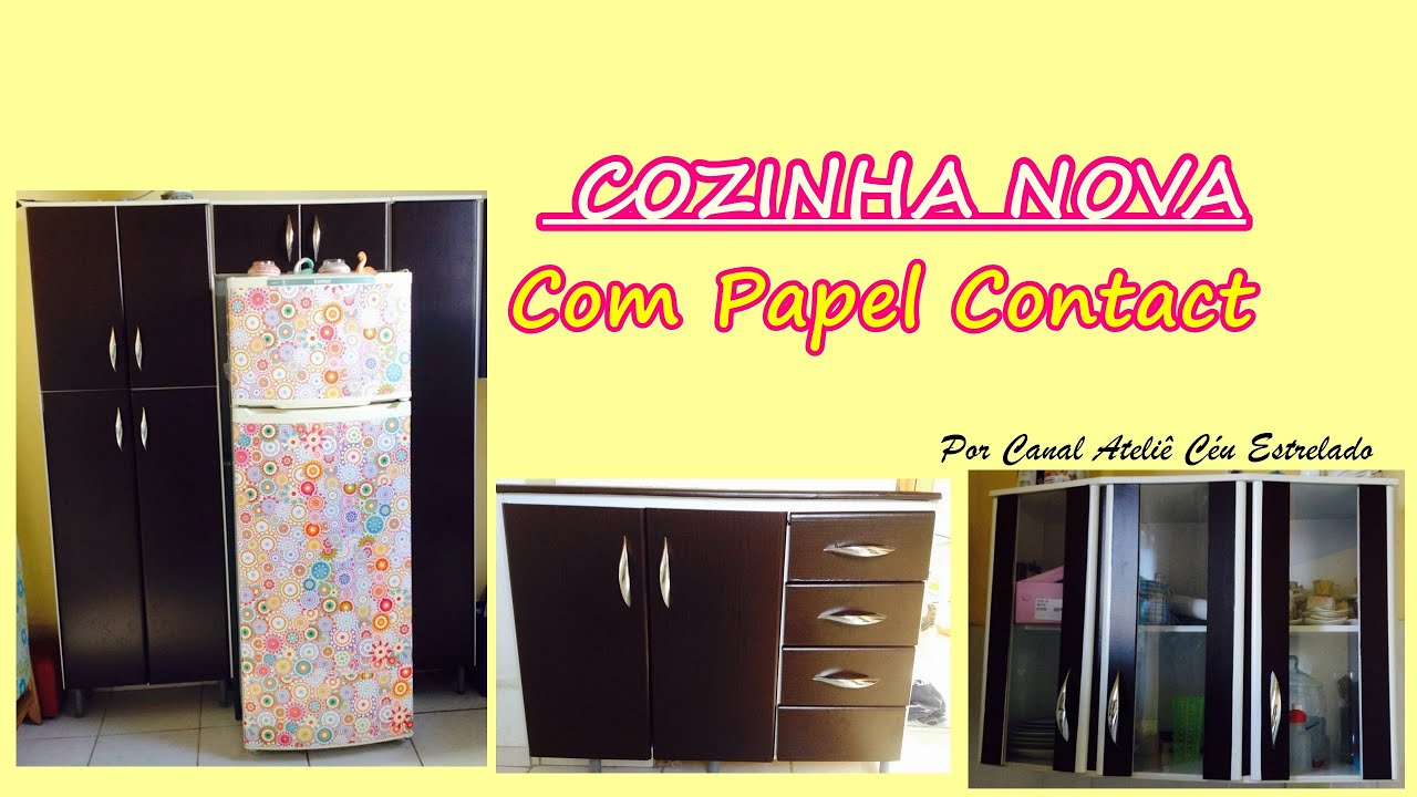 Remobel Small Kitchen Reformando Com Papel Contact Armarios E Geladeira Youtube