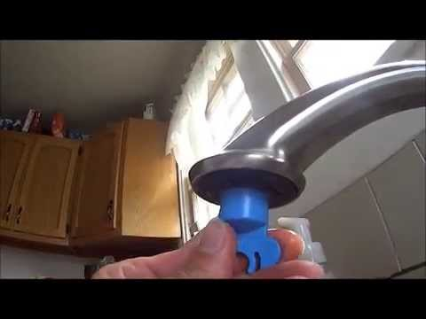 How To Fix Kitchen Faucet Water Running Slow Clogged Aerator Using Delta  Wrench RP52217   YouTube