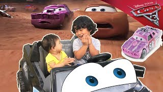 Cars 3 Thunder Hollow racers diecast Tailgate Cigalert | Cars 3 demo derby Toys at the Park