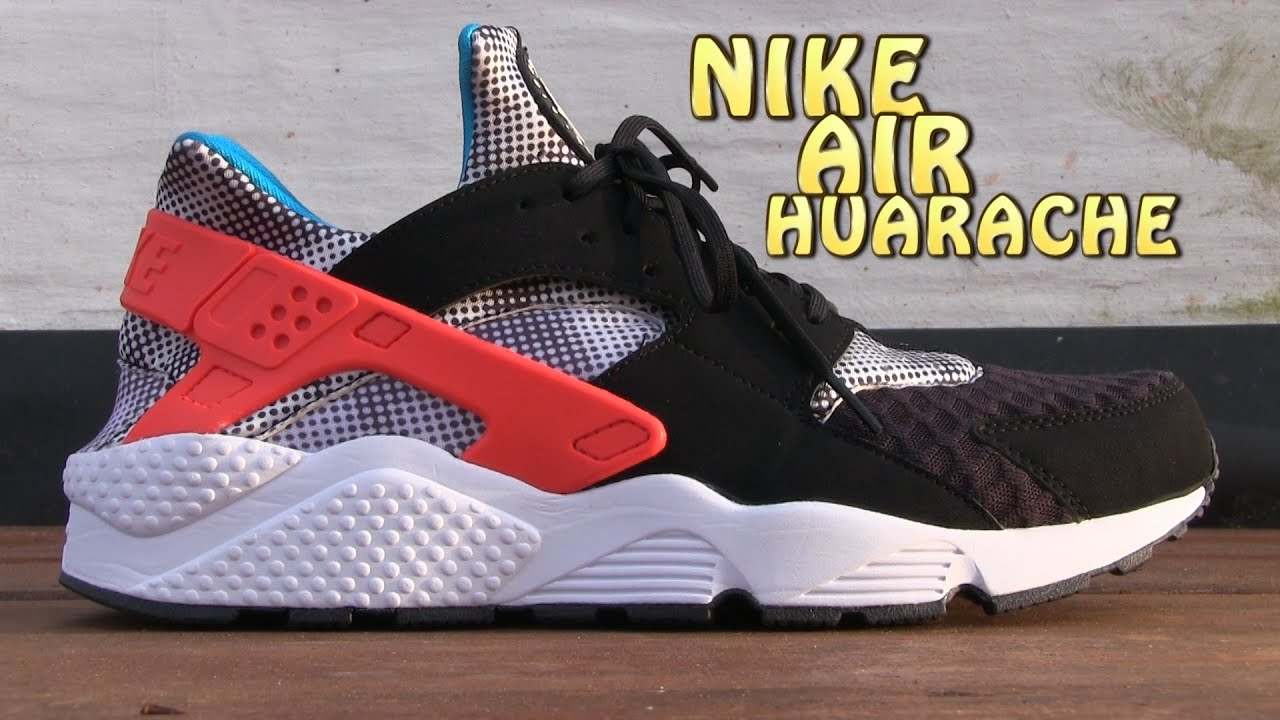 c6991ef7c2809 Nike Air Huarache Run FB (Black   Bright CRMSN) - On Feet - YouTube