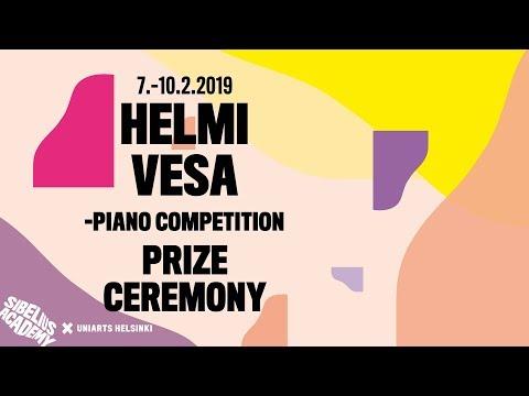 Prize Ceremony - Helmi Vesa Piano Competition, 7–10 Feb 2019, Sibelius Academy