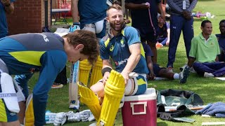 Aussies hit the training track with special guest coach